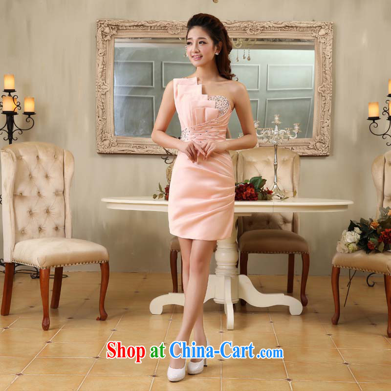 Moon 珪 guijin Pink Lady flash stylish trim sexy beauty bridal dresses serving toast K64 pink XXXL scheduled 3 days from Suzhou shipping