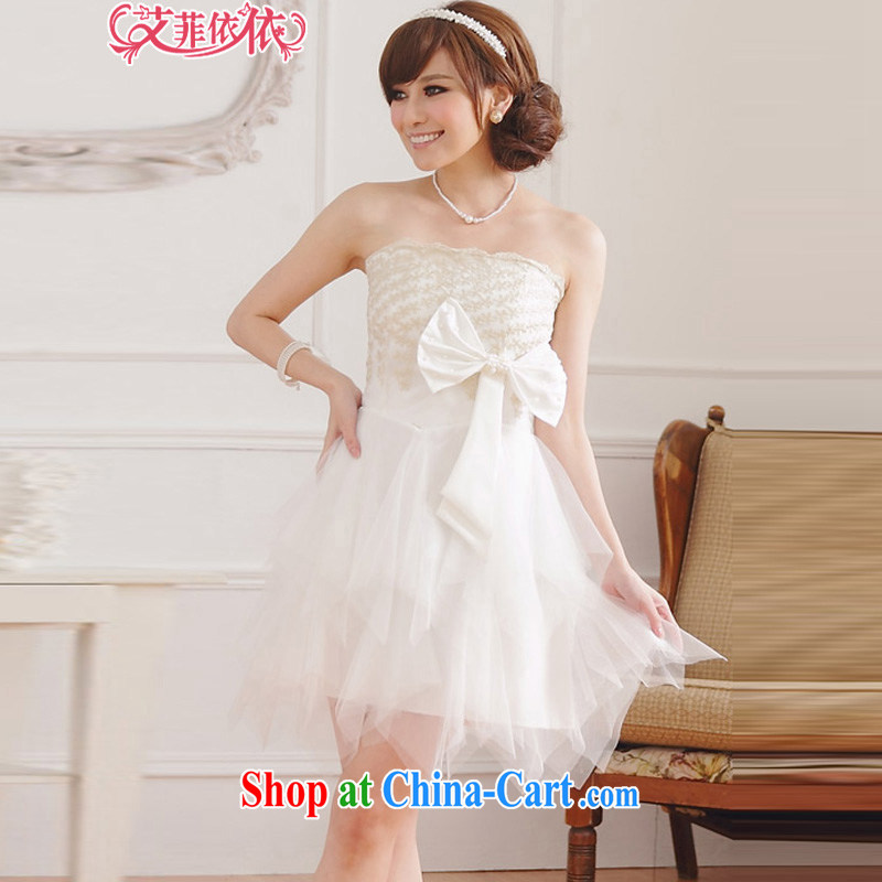 The heartrending larger embroidered Web yarn wiped chest small dress 2015 Korean short wedding banquet hosted bridal bridesmaid wedding canopy skirts 4596 white XXXL