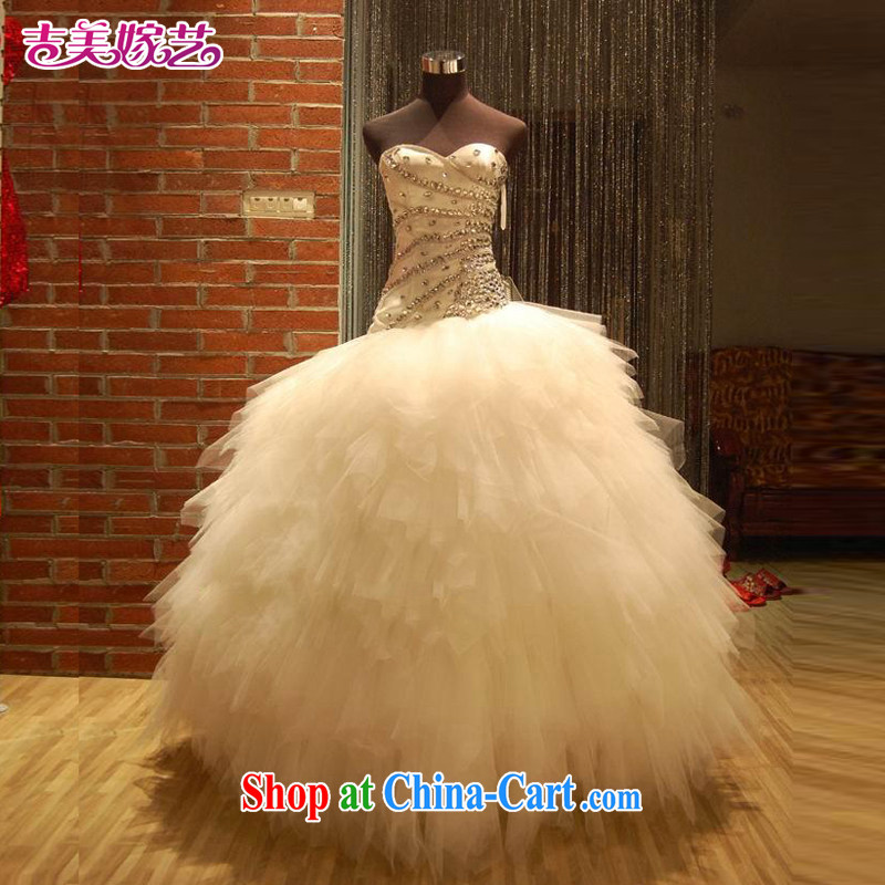 Vladimir Putin, and the wedding dresses Jimmy married arts 2013 new erase chest Korean beauty and tail HT 534 bridal wedding with XXXL