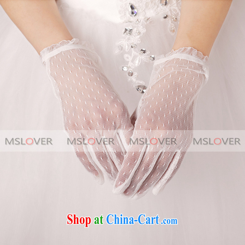 MSLover buds mesh panel 5 the short Dinner Show marriages gloves ST 1229 ivory