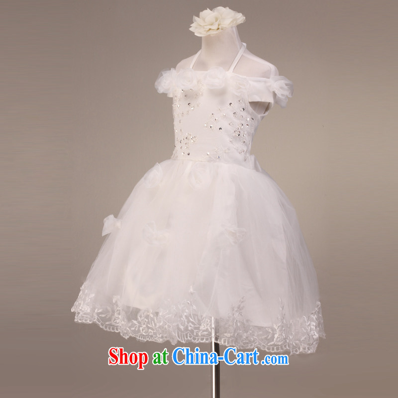 Hang MSLover also lace shaggy skirts girls Princess dress children's dance stage dress flower girl dress FD 130,613 m White 4, name, Mona Lisa (MSLOVER), online shopping