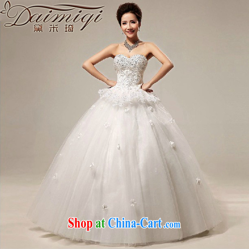 Diane M Qi 2014 new erase chest lace hotel with shaggy bridal wedding dresses white XXL