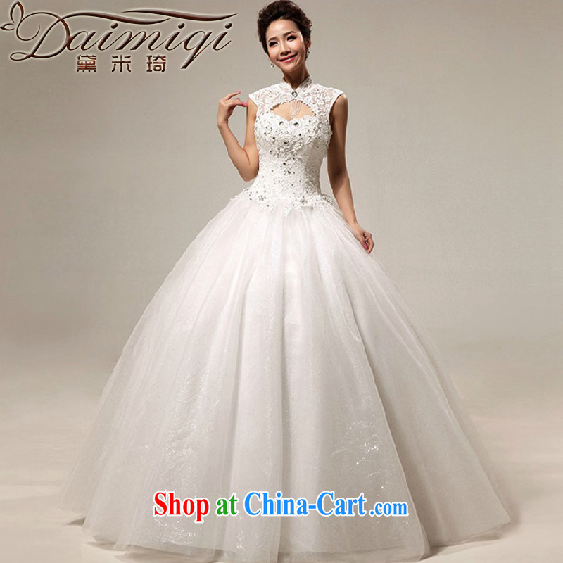 Diane M Ki wedding dresses new 2014 Korean wedding Princess light drill lace zipper with, wedding white L