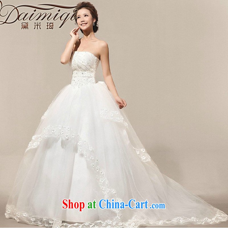 Diane M Ki wedding dresses new 2014 pregnant women wedding Korean lace tail wedding wedding photography white XXL
