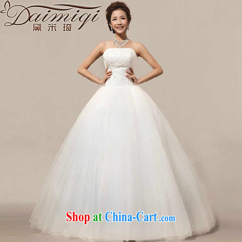 Diane M Qi 2014 New New erase chest shaggy dress with straps bridal lace wedding white XXL