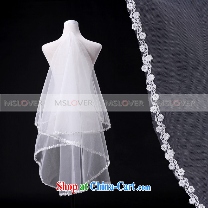 MSLover lace 1.5 M single layer short and legal wedding dresses accessories marriages and legal TS 130,703