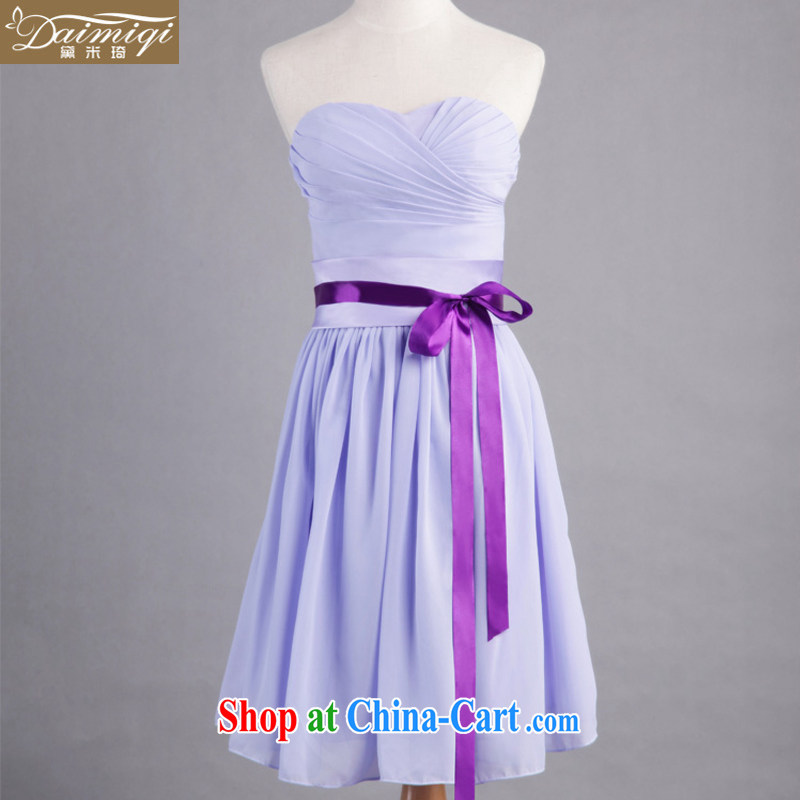 Diane M Ki bridesmaid dress bridesmaid serving short small dress with stars, Li Xu Jialu, with special edition upgrade short XXL