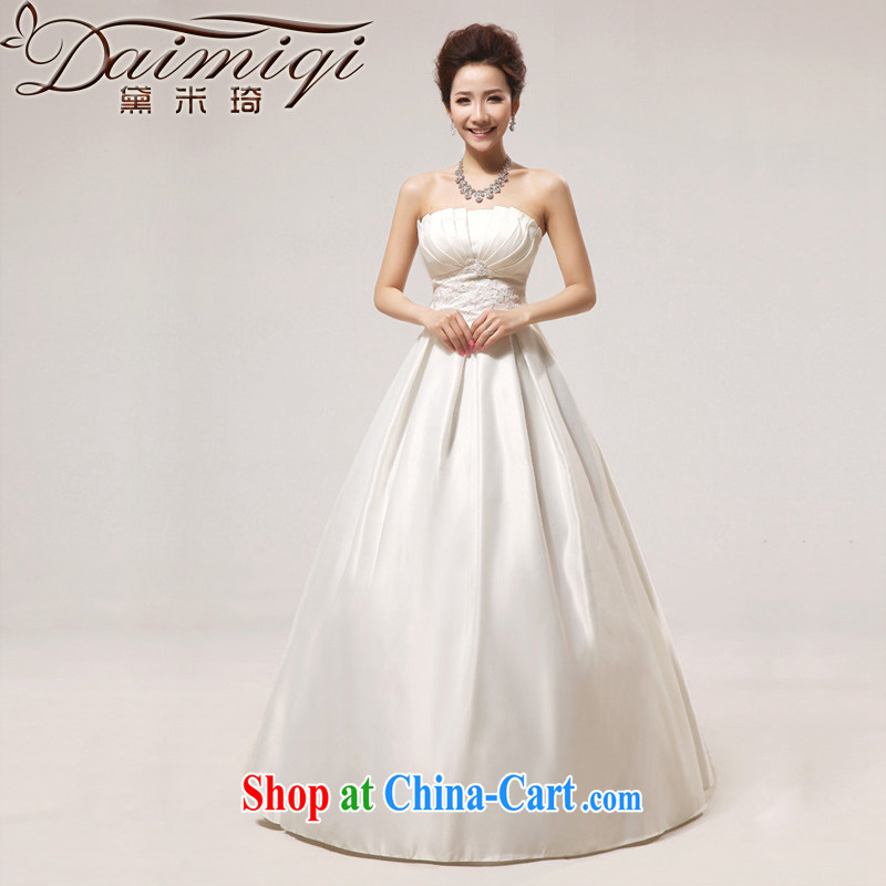 Diane M Ki wedding dresses new 2014 spring wedding Princess Korean ultra graphics thin white wedding wiped his chest, butterfly white XXL