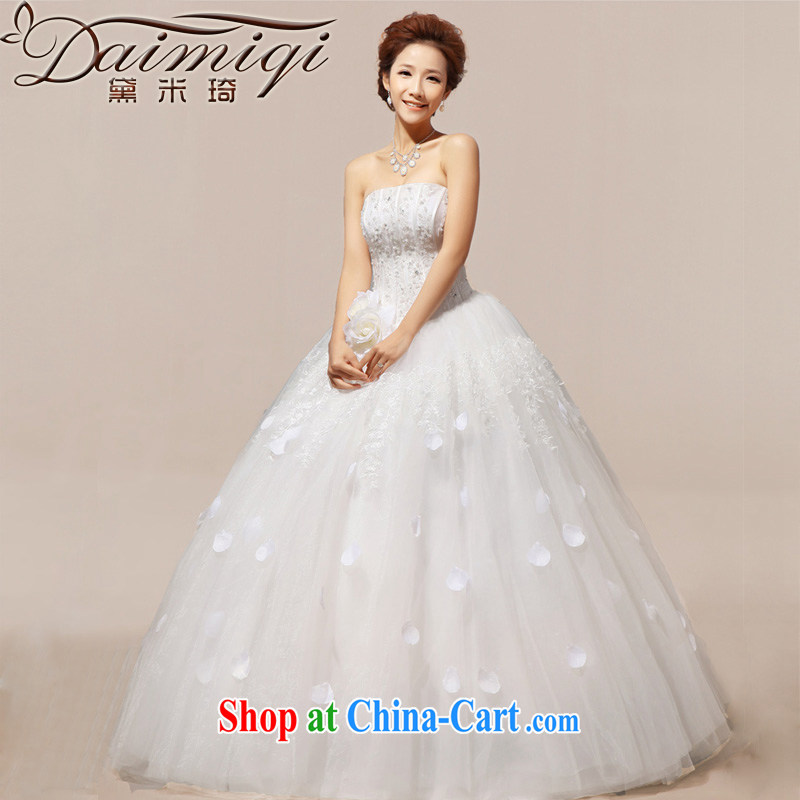 Diane M Qi 2014 new woman Mary Magdalene gorgeous chest hotel with star sweet wedding Korean dress Normal Edition XXL
