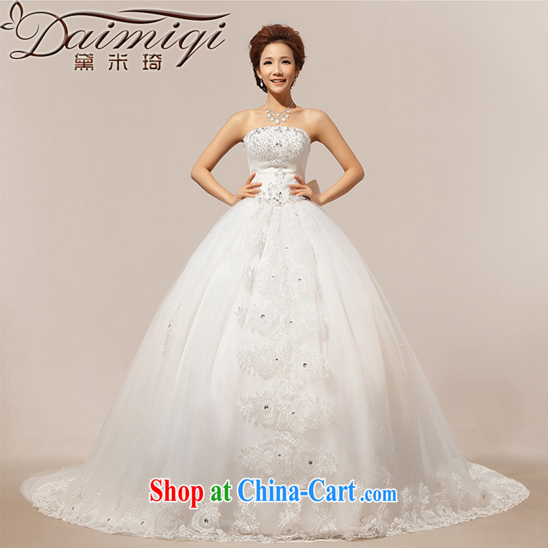 Diane M Qi 2014 a large tail stars with marriages most hot wedding dresses cream XXL