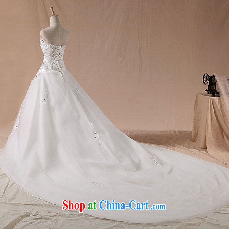Diane M Ki spring 2014 recommended cultivating retro tie shaggy Korean wedding dresses tails, XXL