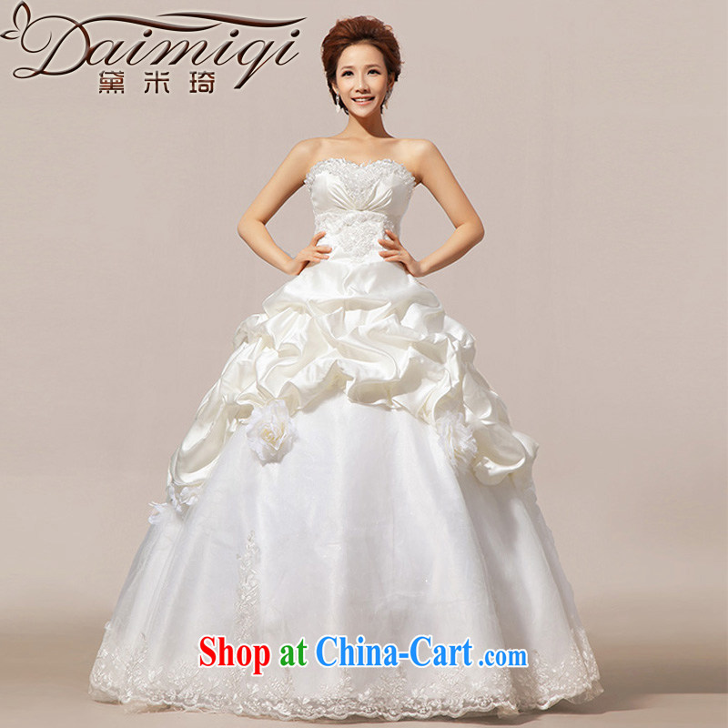 Diane M Ki wedding dresses new 2014 Korean sweet Princess Mary Magdalene chest wedding vera wang Wang Wei style 10 storey Platinum Edition L
