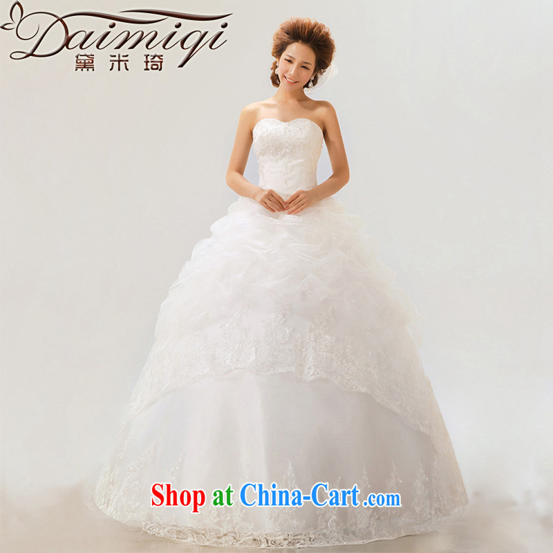 Diane M Qi 2014 new Korean version wiped chest wedding dresses with sweet Princess tied with pregnant women wedding 12 layer Platinum Edition L