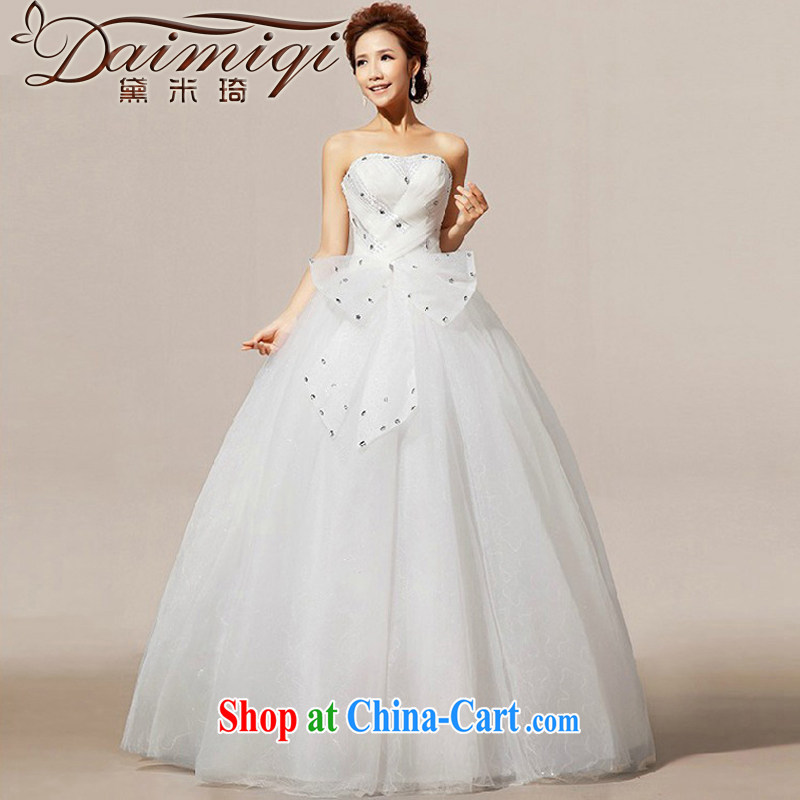 Diane M Ki new 2014 wedding wedding wedding Korean wrinkled wood drill church wedding dresses white XXL