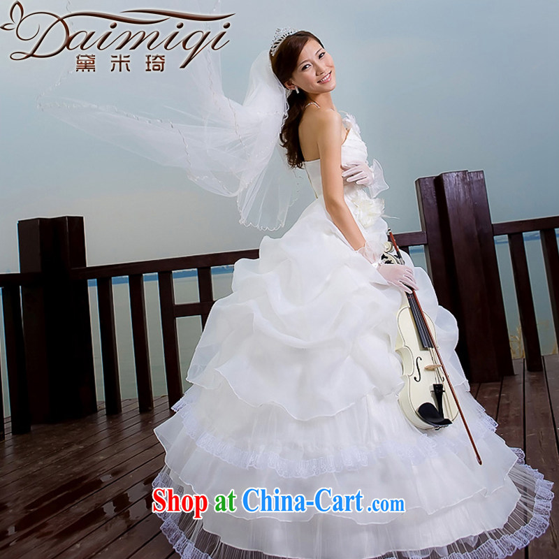 Diane M Ki wedding dresses new 2014 Korean Princess Mary Magdalene chest wedding dresses white XXL