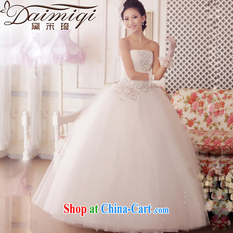 wedding dresses new 2014 erase chest strap Korean pregnant women high waist. Summer wedding white XXL waist 2 feet 4