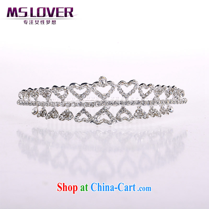 MSlover crystal alloy bridal Crown bridal accessories and ornaments hair accessories wedding hair accessories comb SP 0114