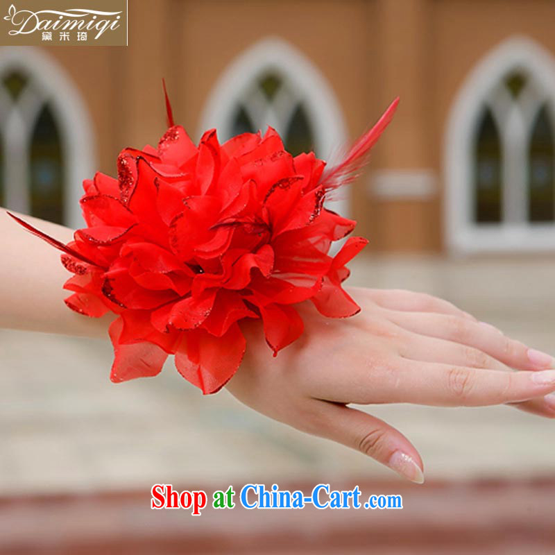 Diane M Ki wedding photo building performances choral bridal bridesmaid/bride's chest flower/Wrist flower/head will be 3 a/Head spend 02 red