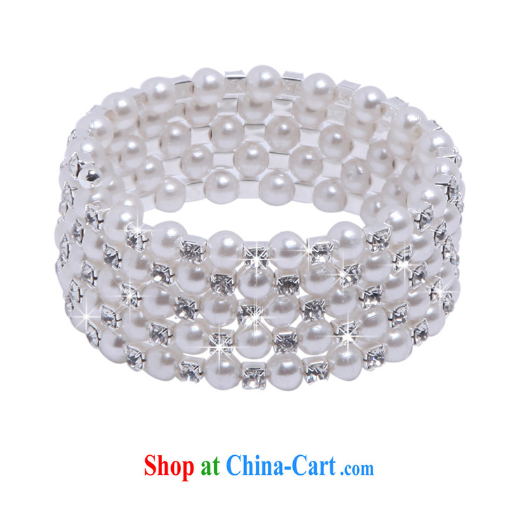 MSlover stylish spiral multi-layer Pearl elastic charm bridal bracelets bracelets wrist jewelry bridal jewelry B 130,803 silver 5 row pictures, price, brand platters! Elections are good character, the national distribution, so why buy now enjoy more preferential! Health