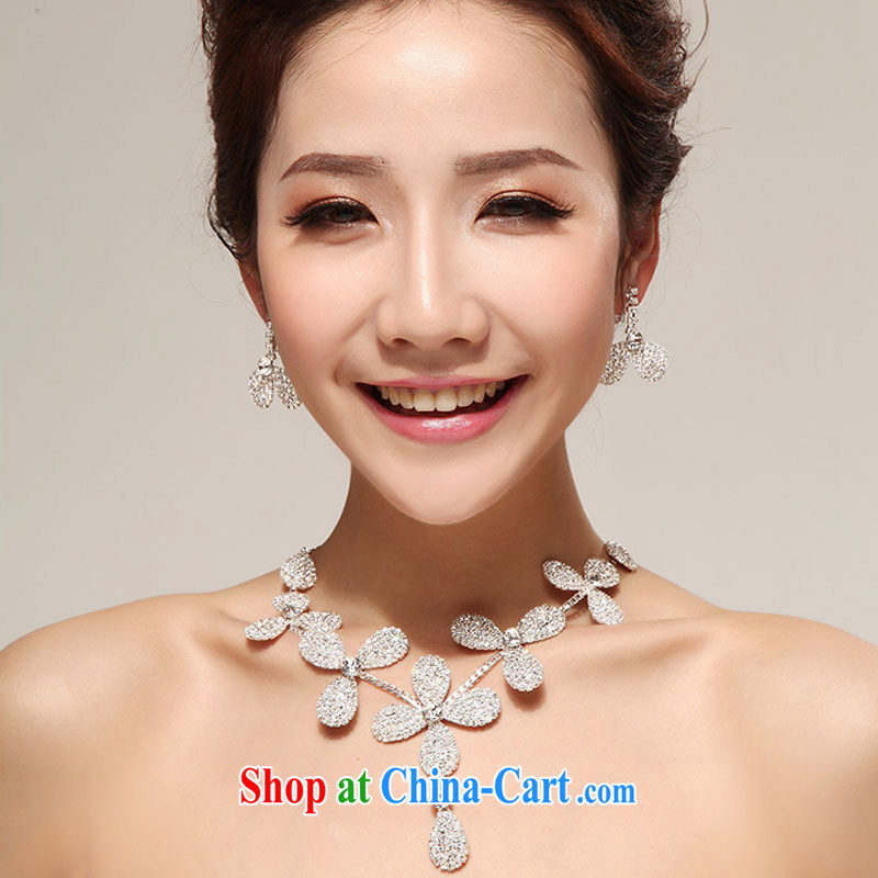 Diane M Ki bridal jewelry accessories high quality ultra-compact flash flower-water diamond necklace Wen Yuen-han Shu banquet jewelry jewelry