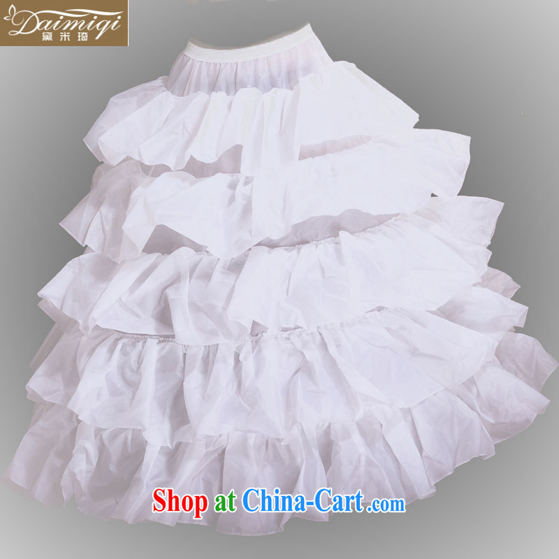 Diane M Ki wedding 2014 new 4 steel ring flouncing skirt stays ultra-large skirt before flouncing skirt spreader
