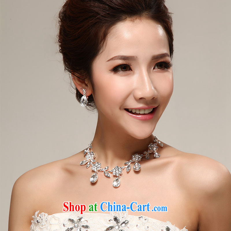 Diane M-ki Korea silver Luxury Water drilling bridal wedding jewelry earrings Kit marriages mandatory jewelry