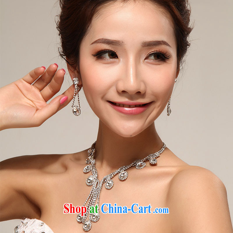 Diane M Qi 11,000 sparkling water droplets, stylish water diamond necklace Korean-style wedding jewelry, film, jewelry and jewelry