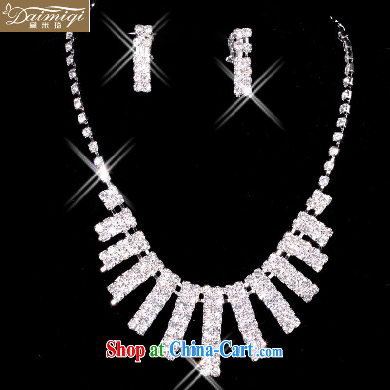 Diane M-ki film building dedicated marriage mandatory, the ultra-flash-in-a-level water drilling bridal necklace set of 4 (jewelry 9)
