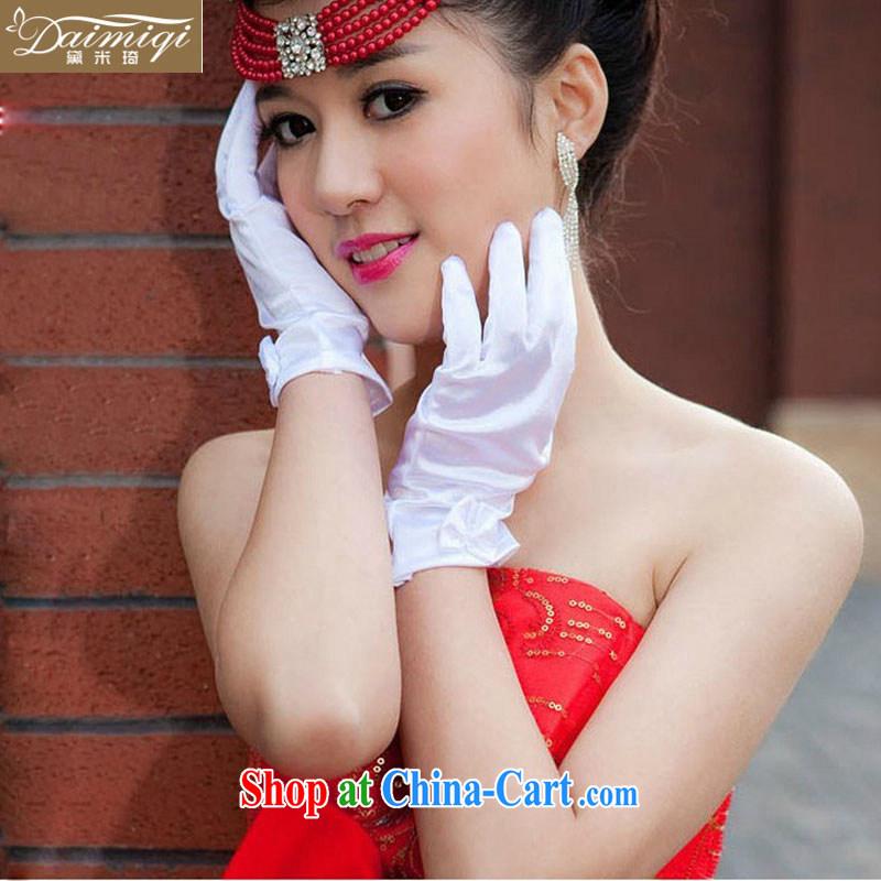 bowtie short gloves, satin gloves, flexible feel good, Suzhou wedding dresses dresses gloves