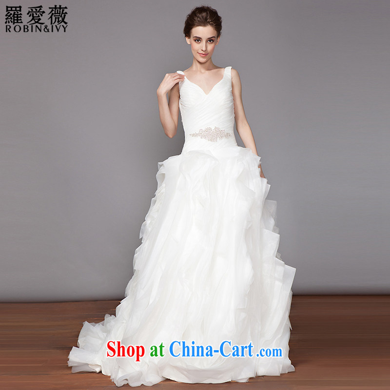 Love, Ms Audrey EU Yuet-mee, RobinIvy_ 2015 new V collar strap tail wedding dresses verawang wedding H 33,511 white tailored