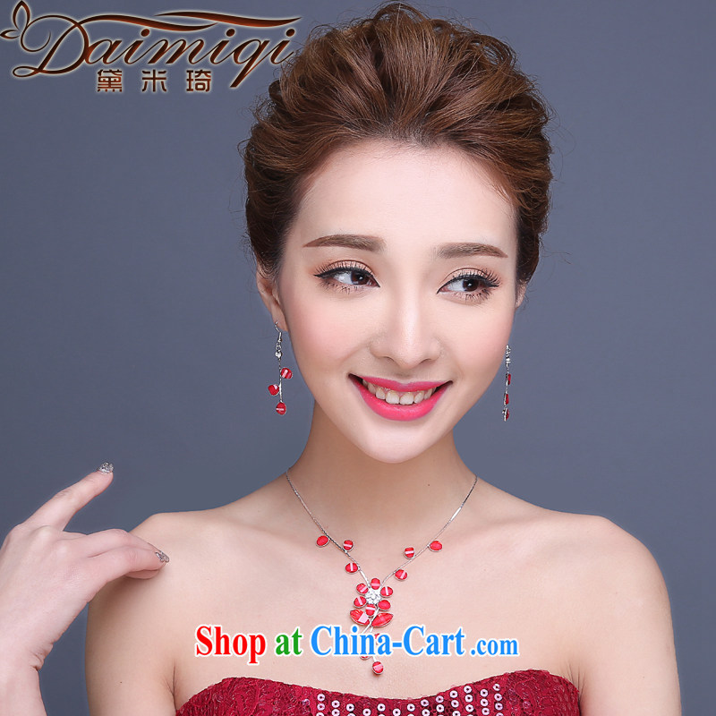 Red jewelry, bridal wedding wedding dresses performances, photo building photo album Photo, jewelry