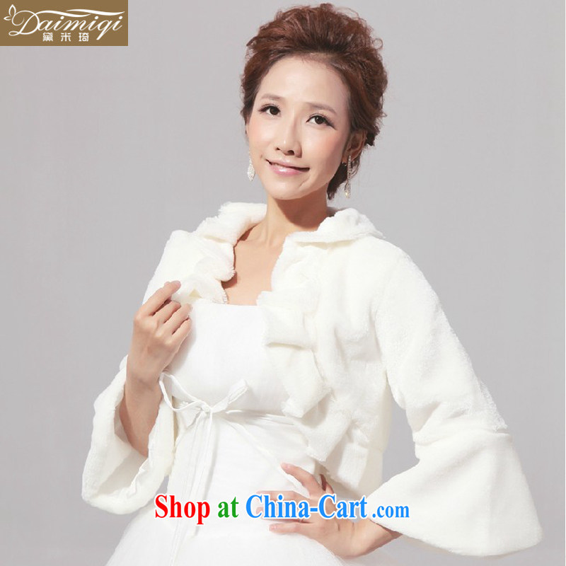 New Products wedding shawl wool shawl bridal shawl jacket long-sleeved white bridal hair shawl