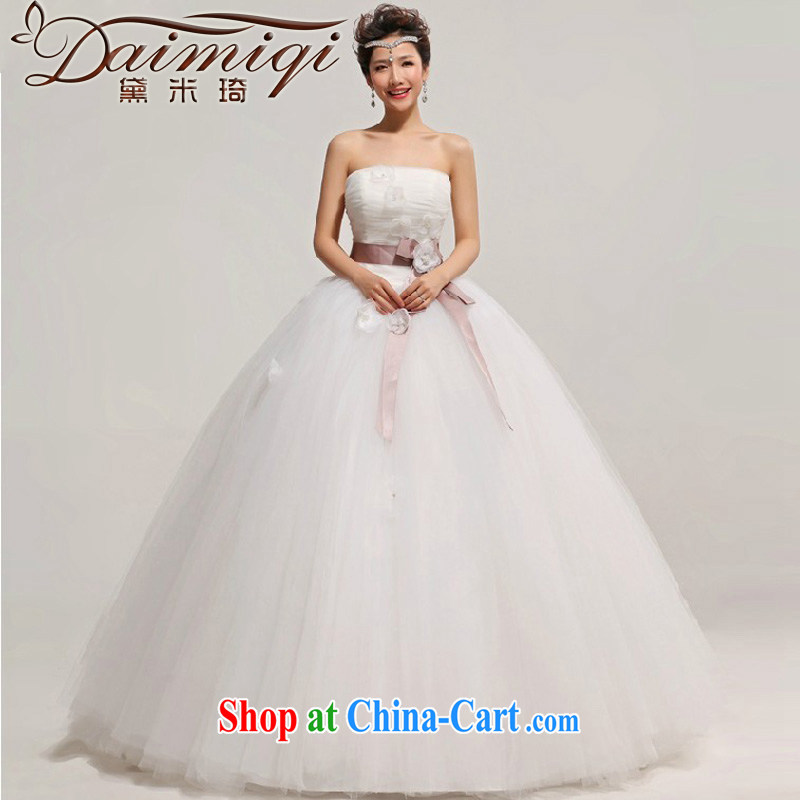 Diane M Ki Korean Princess bride wiped his chest wedding dresses 2014 new large, pregnant women custom high waist graphics thin hamba white XXL