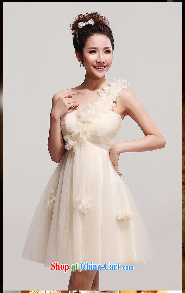 Korean wedding dresses small firm the shoulder flowers evening korean wedding dresses small firm the shoulder flowers evening dress short bridesmaid dress wedding champagne toast ombrellifo Choice Image