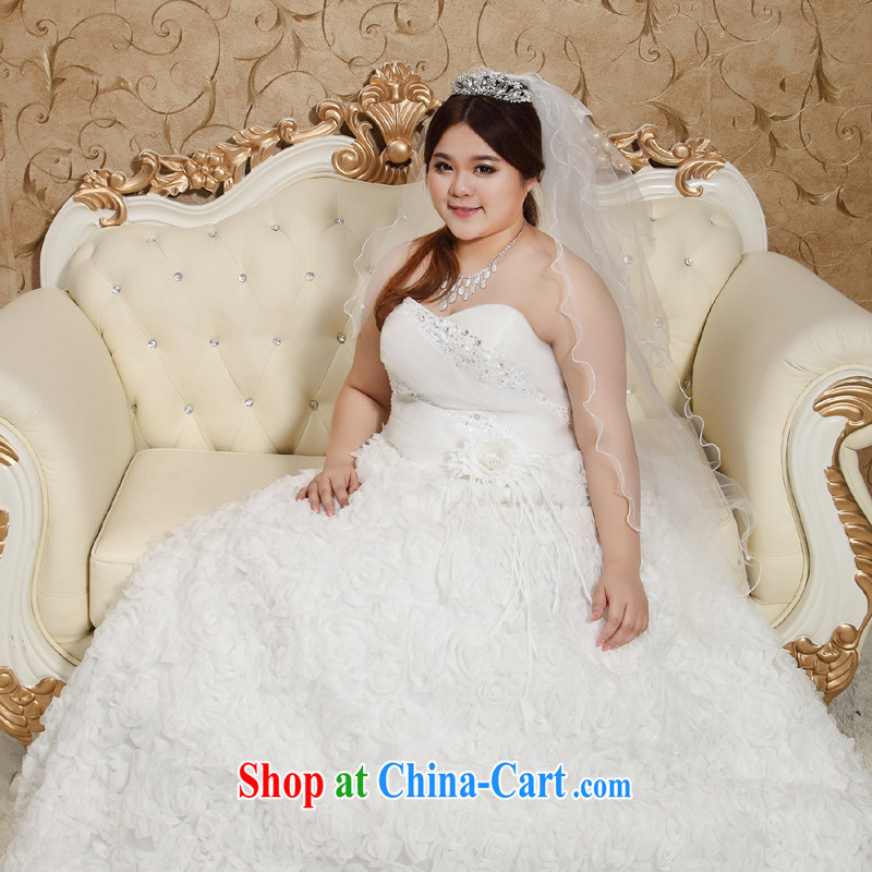 Moon 珪 guijin wedding dresses Korean wiped chest King Size Code thick mm XL Princess skirt tied behind with the Code wedding 10 XXXL scheduled 3 Days from Suzhou shipping