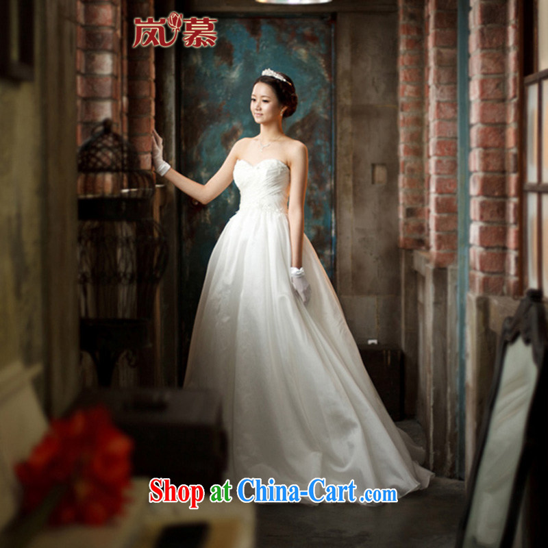 LAURELMARY sponsors the 2015 new Korean version Design simple Erase chest super sweet bridal wedding dresses white XL (B = 95/W = 79)