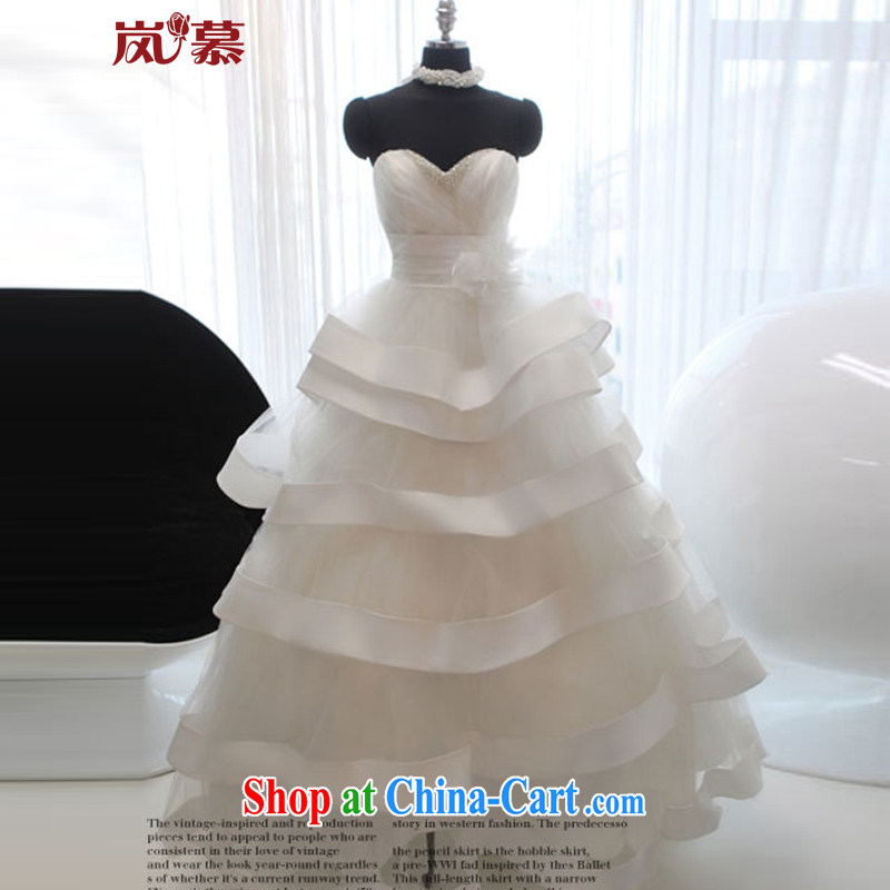 LAURELMARY sponsors the 2015 new Korean Princess shaggy skirts erase chest Princess skirt plain white XXL (B = 100/W = 84)