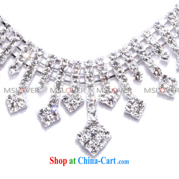 MSLover everlasting crystal bridal Crown Kit link marriage jewelry wedding accessories kit S 130,802 silver crown necklace link ear clip 3 piece set (ear-clips, pictures, price, brand platters! Elections are good character, the national distribution, so why buy now enjoy more preferential! Health