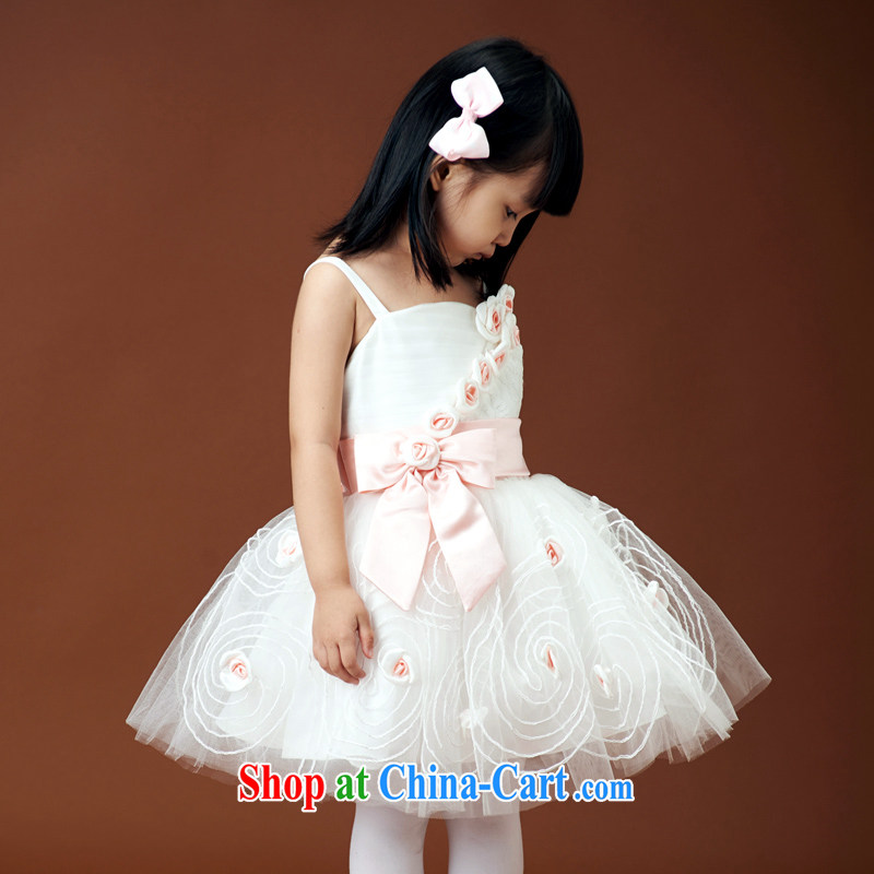 Moon �� guijin wedding dresses children's wedding dresses flower girl shaggy dress straps rose Princess skirt girls' performance service performance service 3 6 yards from Suzhou shipping