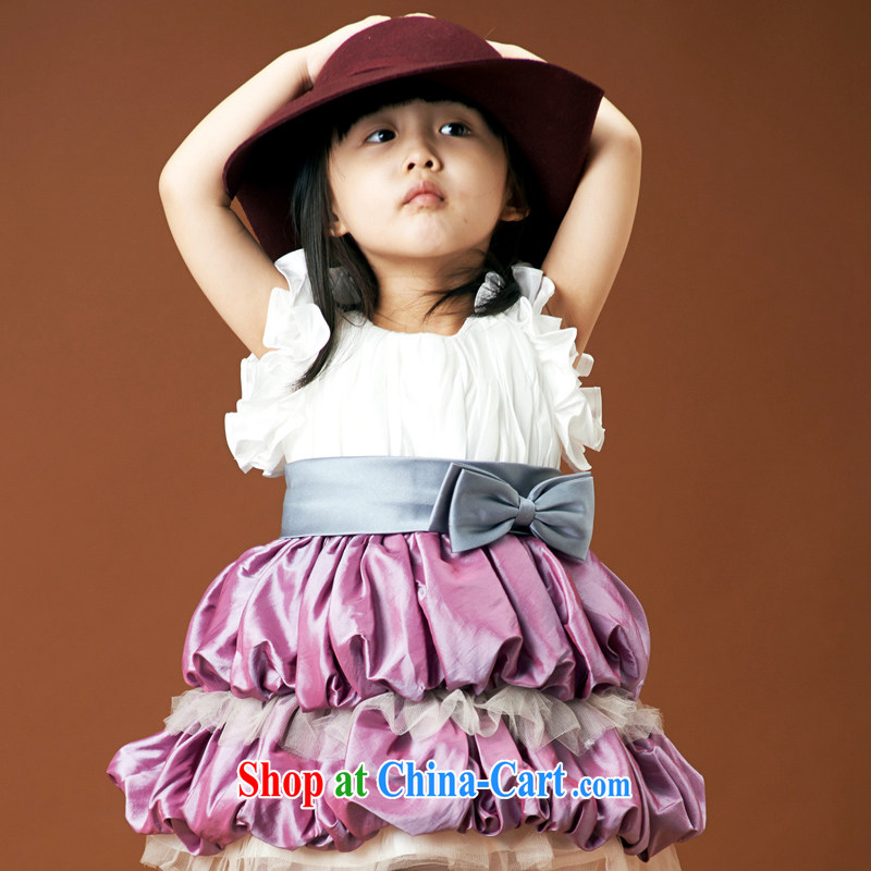 Moon 珪 guijin wedding dresses flower girl Princess wedding dresses dress children shaggy dress child dance apparel uniforms 4 purple 6 yards from Suzhou shipping