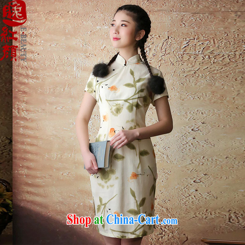 once and for all elections as soon as possible fatally jealous Asakusa 2015 new stylish and improved cheongsam summer short, Retro cheongsam dress suit M