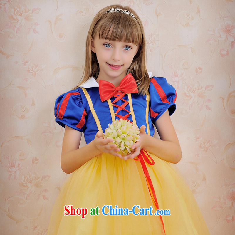Moon 珪 guijin, click children's wear dress children show their dance uniforms white snow white bubble skirt T 64 10,000 Halloween royal blue M from Suzhou shipment 8 from Suzhou shipping