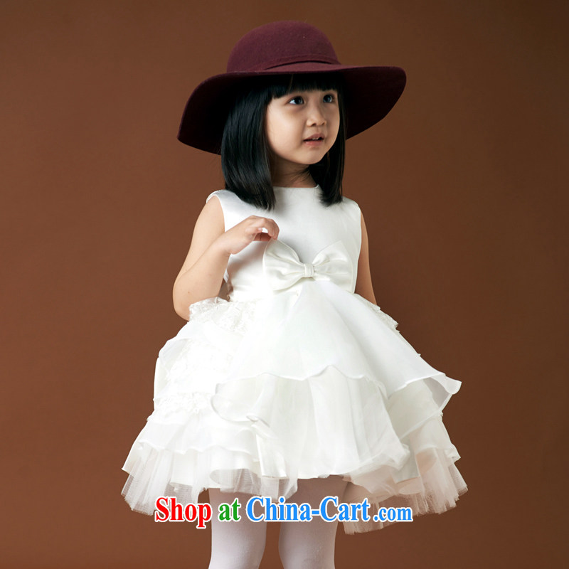 Moon �� guijin children children dress uniform performance dance uniforms white dream small cute shaggy dress small children wedding 8m White 6 yards from Suzhou shipping