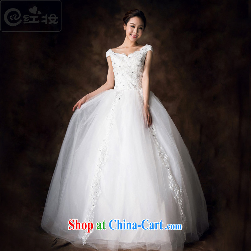 Recall that the red makeup summer wedding package shoulder Korean 2015 new sexy lace with tie-shoulder wedding pregnant women to wear H 13,712 white XL