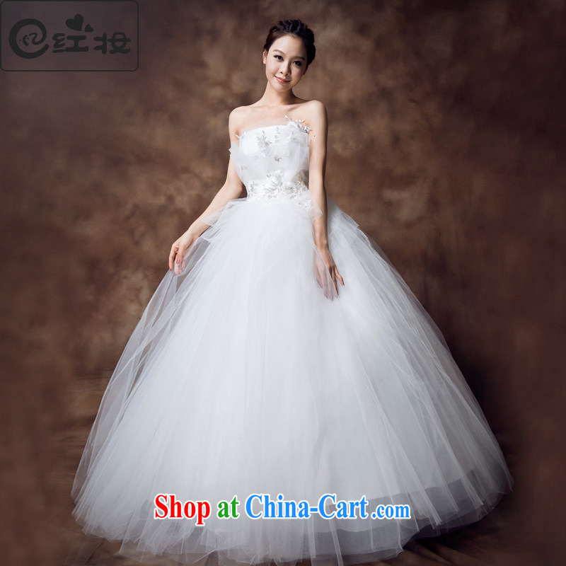 Recall that the red makeup summer new wedding dresses new alignment to erase chest high waist wedding shaggy lace pregnant brides to wear H 12,131 white XL
