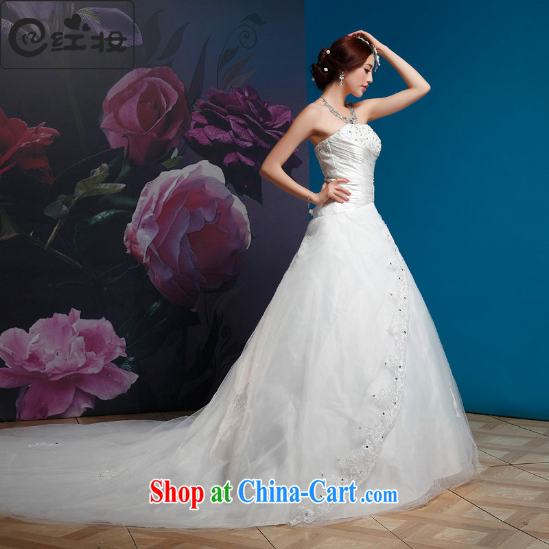 Recall that the red makeup summer wedding dresses new 2015 retro tie-off chest wedding Korean-style Deluxe Big-tail bridal H 11,022 white XL _spot_
