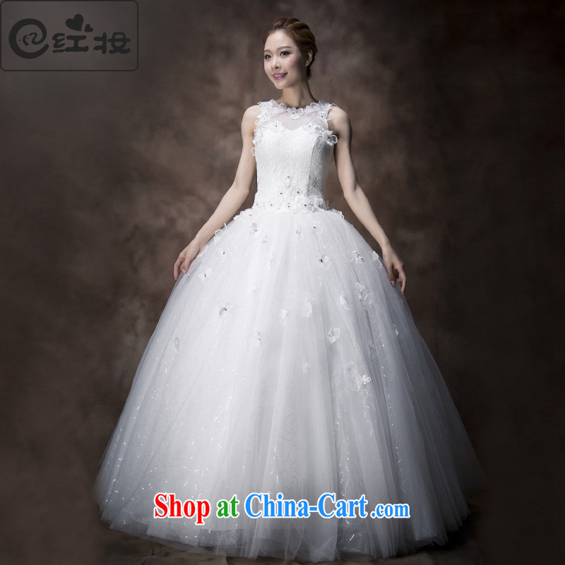 Recall that the red makeup spring and summer 2015 sleeveless shoulders wedding dresses marriages Openwork lace sweet Princess wedding H 13,740 white M