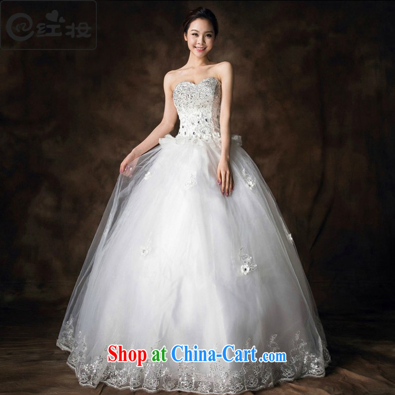 Recall that the red makeup summer 2015 new luxury Korean water drilling erase chest strap wedding bridal marriage with Princess H with 13,711 white XL