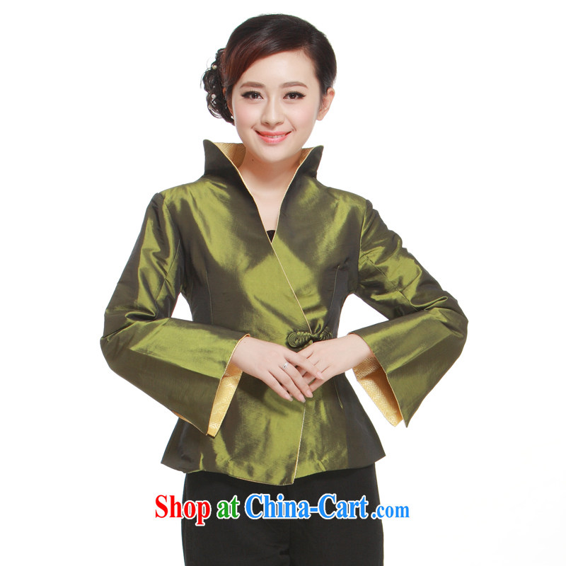 2015 spring new 4-color into the kernel for elegant Exclusive stylish improved Chinese shirt Ms. slim Li know QN 3043 dark XXXL