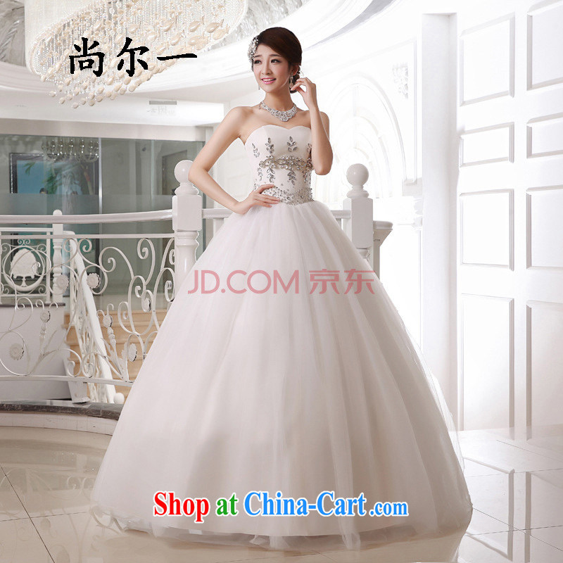 Taiwan's population 2013 new wedding erase chest flash with wedding band wedding bridal wedding XS 1930 white XXXL